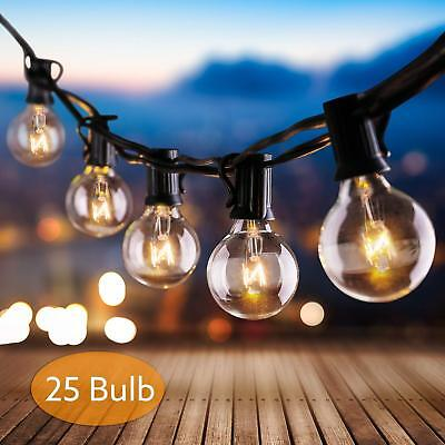 Outdoor Globe Patio String Lights 25 Led Bulbs G40 for Wedding Party Chitristmas