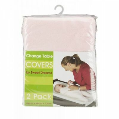 Sweet Dreams Change Table Mattress Cover 2 Pack - Pink