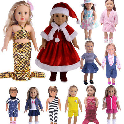 Handmade Doll Clothes Dress Outfit Accessories For 18 inch American Kids Doll US
