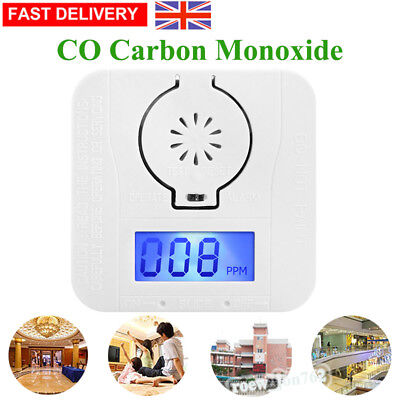 1/2/4 LCD CO-Carbon Monoxide Detector Poisoning Gas Warning Sensor Monitor Alarm
