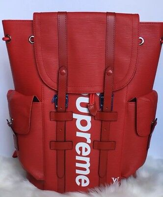 fe7a3d5093b LOUIS VUITTON X supreme Christopher Pm Backpack Epi Leather ...