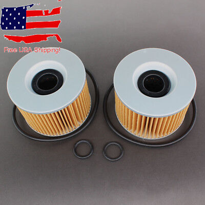 2x Oil Filter / O-Rings For Honda CB350F CB400F CB500 CB550 - 15410-426-010