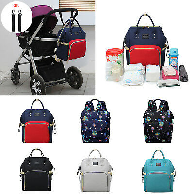Waterproof Large Diaper Bag Mummy Maternity Nappy Backpack Care Shoulder Bag Lot