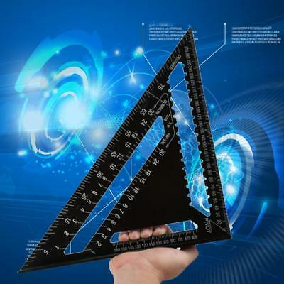 """High-Precision 12"""" Triangle Ruler for Woodworking Square Layout Gauge Measuring"""