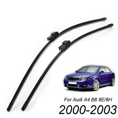 """Front Windshield Wiper Blades Set Fit For Audi A4 B6 8E 8H 2000-2003 22""""22"""""""