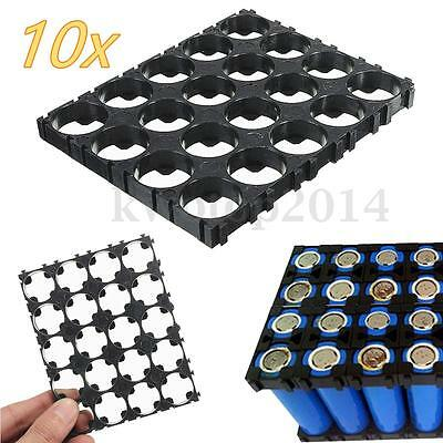 10PC 18650 Battery 4x5 Cell Spacer Radiating Shell Plastic Holder Bracket 18.4mm