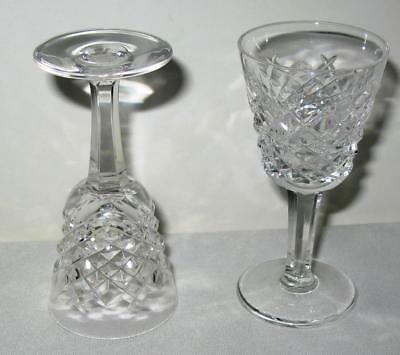 Four Waterford Crystal Alana Cordial Liqueur Cocktail Glass Gothic Watermark