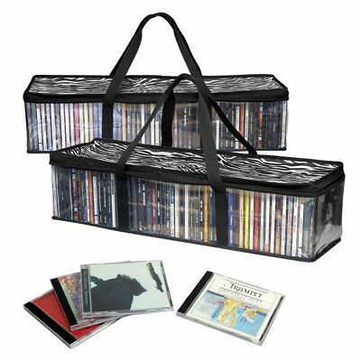 Evelots New&Improved CD Sturdy Storage Bags Carrying Handles- S/2-Total 96 C ...