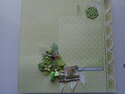 Handmade Scrapbook page - Loving our Life