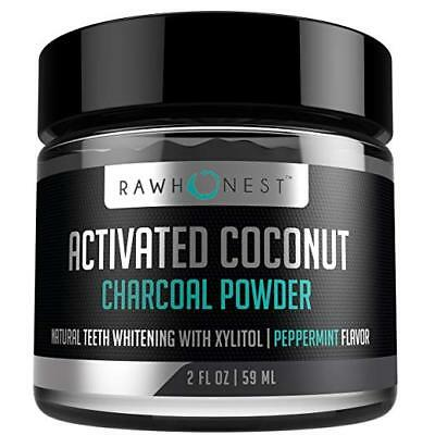 Teeth Whitening Activated Charcoal Powder with Coconut and Xylitol 100% Natural