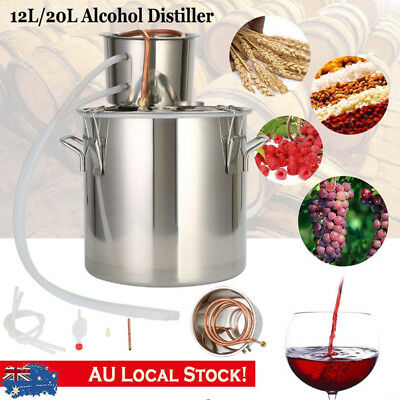 3/5 Gallon Alcohol Moonshine Water Copper Home Stainless Alcohol Distiller Kit