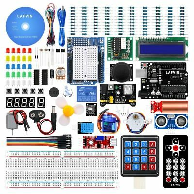 Lafvin Uno R3 LCD1602 IIC 2560 Ultrasonic Learning Kit with Tutorial for Arduino