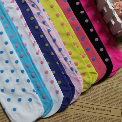 Delicate Girls Kids Dotted Tights Stockings Pantyhose Socks Ballet Solid