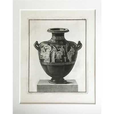 18th Century Engraving of Greek Hydra Pottery Ancient Greece