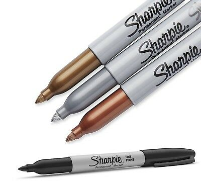 Sharpie Metallic Fine Point Bullet Permanent Markers Gold Silver Bronze Black