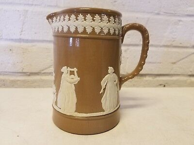 Antique Dudson Brown Jasperware English Pitcher