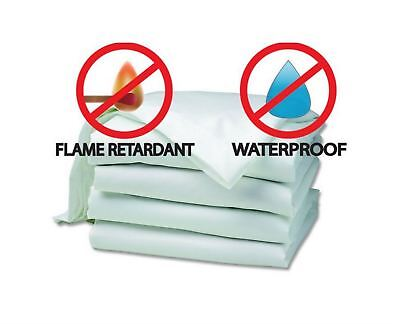 Fire Retardant & Waterproof Mattress Protector, Green Tint, Double