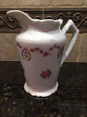 Antique Vintage Small Ornate Pitcher - 81 On Bottom
