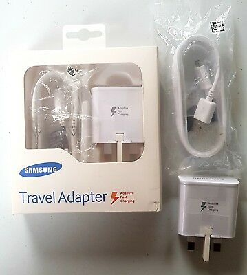 100% ADAPTIVE FAST CHARGER for SAMSUNG GALAXY S6 S7 EDGE USB Data CABLE NOTE 4 5