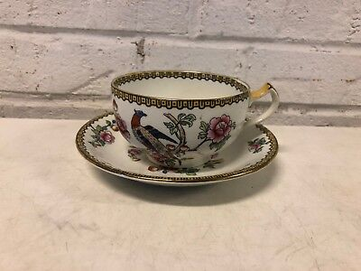 Antique Wheldon Ware F. Winkle & Co. England Porcelain Pheasant Cup and Saucer