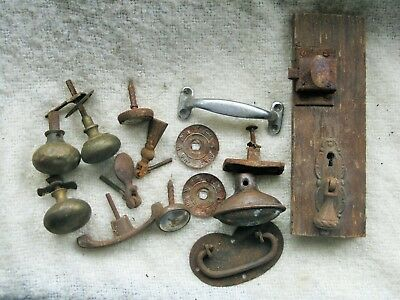 Job Lot of Various Reclaimed Door Cabinet Handles and Knobs. Original Condition.