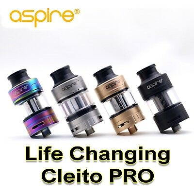Aspire Cleito Pro Vape Tank Replacement Mesh Coils Ecig Kit Sub-Ohm 2ml