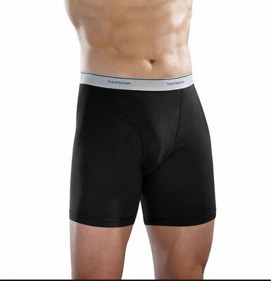 Fruit of the Loom Men's Boxer Briefs packs Black Gray OR assorted RANDOM colors