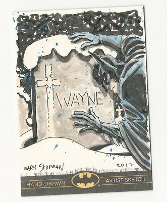Batman: The Legend 2013 Cryptozoic DC Sketch Card by Gary Shipman 1/1