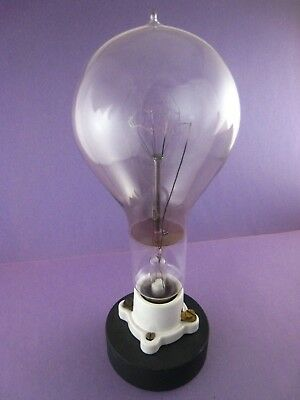 Original Antique,..Early 1900s .. Tipped Light Bulb, .Base,..Nice ..# 15