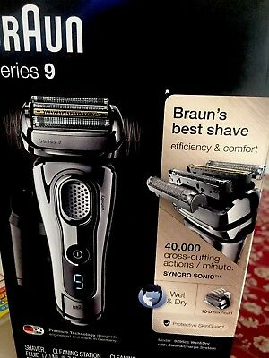Braun Series 9-9295CC Wet & Dry Electric Shaver in Chrome new! w/o box
