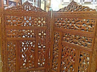 Handmade Wooden 3 Panel Room Divider  with High Quality Hand Work