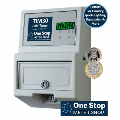 TIM30 Coin Timer - Accepts £1 & 20p Coins - 30 Amp
