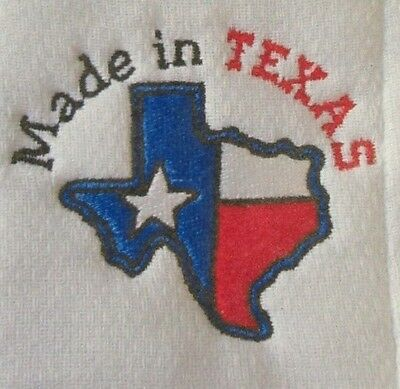 Made in Texas embroidered burp cloth Personalized
