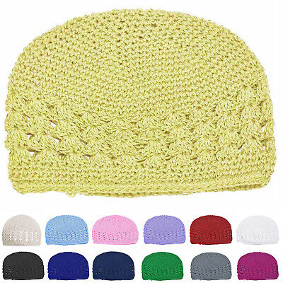 Newborn Baby Girl Cap Kids Warm Winter Cute Crochet Knitted Hat Cap Beanie  B8D9