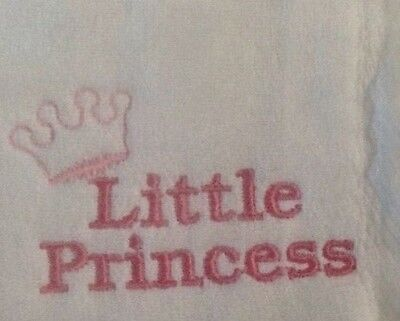 Little Princess embroidered burp cloth Personalized