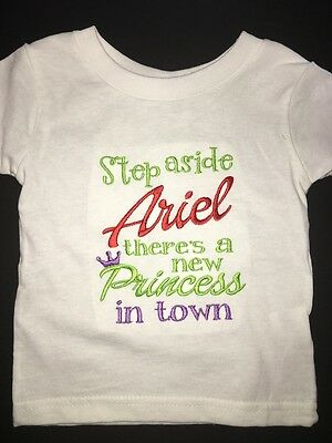 aec8012e7 Step Aside Ariel Embroidered Bodysuit T-Shirt Personalized Little Mermaid
