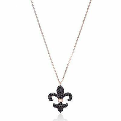 Zircon Ottoman Charm Necklace 925 Sterling Silver