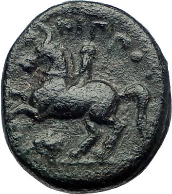 Philip II Alexander the Great Dad OLYMPIC GAMES Ancient Greek Coin Horse i73353