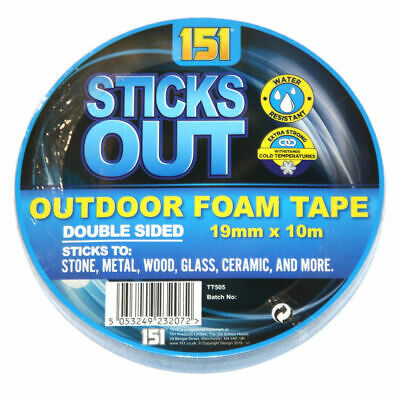 Outdoor Foam Tape Double Sided Adhesive Bonding Sticks to Stone Metal Wood 10M
