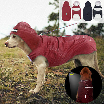 Large Dog Raincoat Waterproof Big Dog Clothes Outdoor Coat Rain Jacket 3XL-5XL