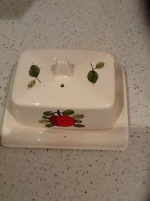 Vintage Retro Ceramic Butter Or Cheese Dish