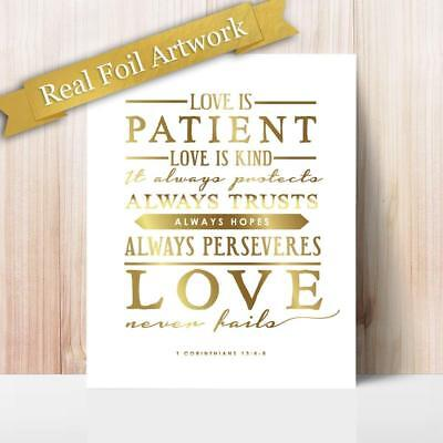 Gold Foil Quote Print Happiness Inspirational Motivational Poster Art Wall Decor