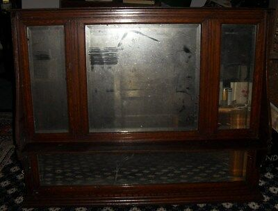 Over mantle mirror, dark wood framed mirror for restoration project