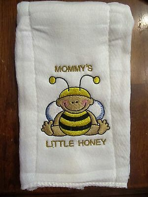 Mommy's Little Honey embroidered burp cloth Personalized