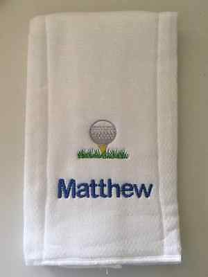Golf embroidered burp cloth Personalized