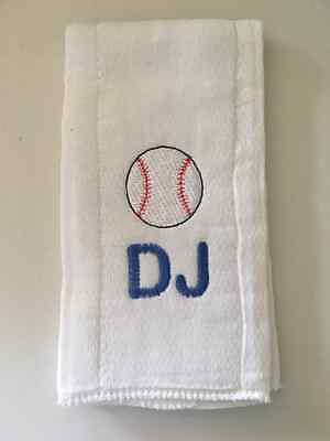 Baseball embroidered burp cloth Personalized