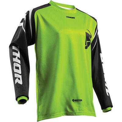 2019 Thor MX Mens SECTOR ZONE Race Jersey -GREEN LARGE- Motocross Off-Road ATV