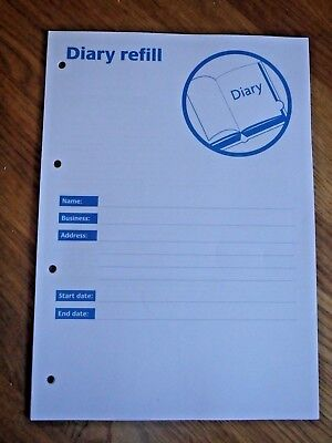 Safer Food Better Business Caterers 24 Month Diary Refill 4 Hole Punched SFBB