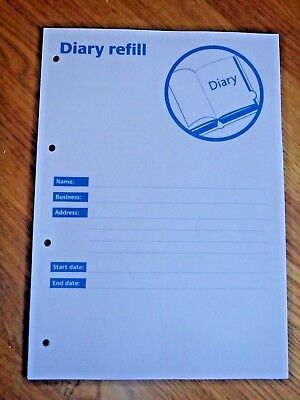 SFBB Safer Food Better Business Caterers 13 Month Diary Refill 4 Hole Punched
