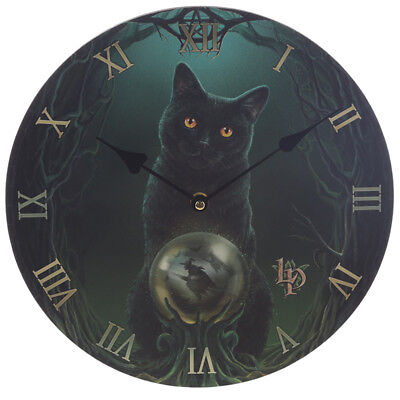 Rise of the Witches Cat Wall Clock 30cm - Lisa Parker Pagan / Wicca NEW & Boxed